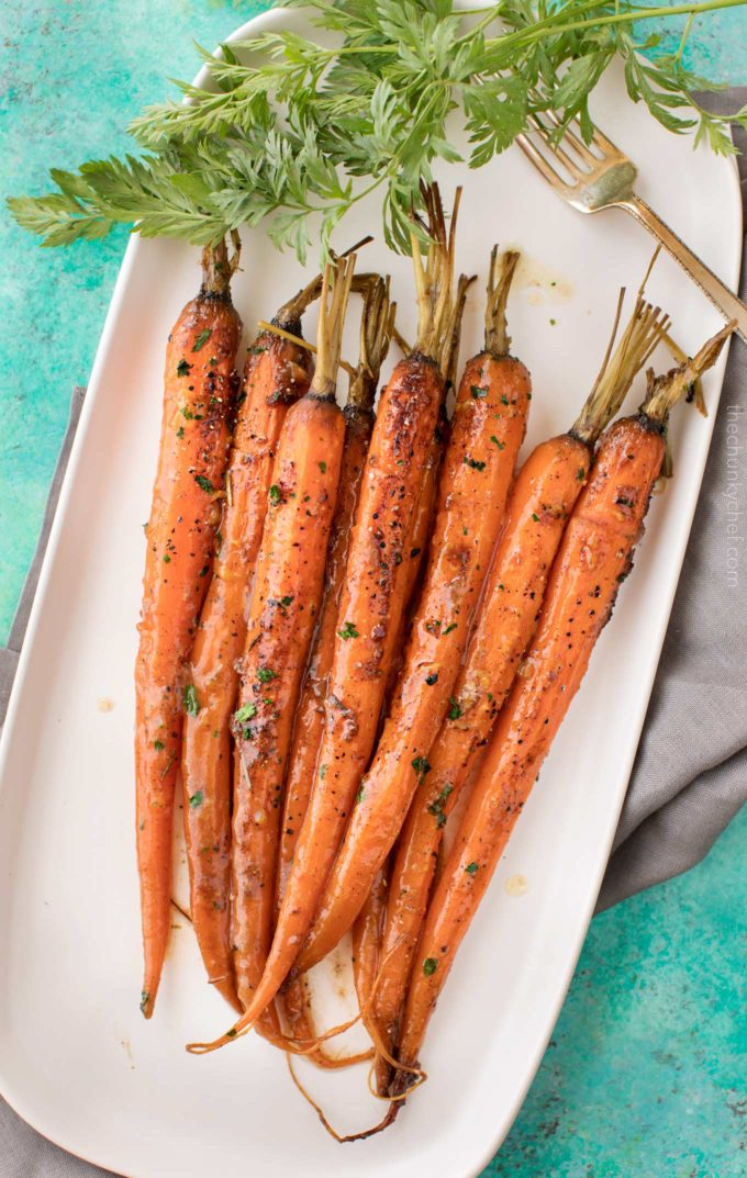 Plate full of roasted carrots