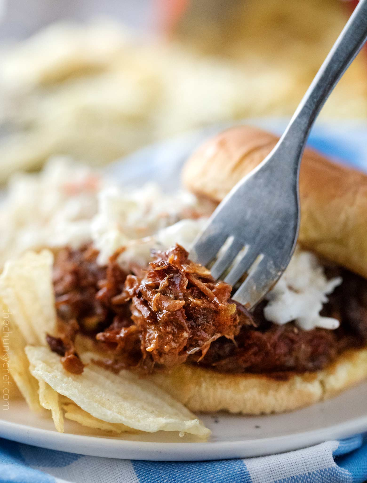 Crockpot Shredded Beef Barbecue 5 The Chunky Chef