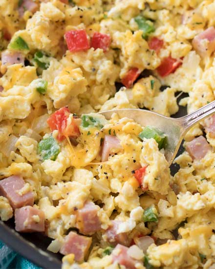 Denver Omelet Salad Recipe: Denver Omelet Scrambled Eggs Skillet