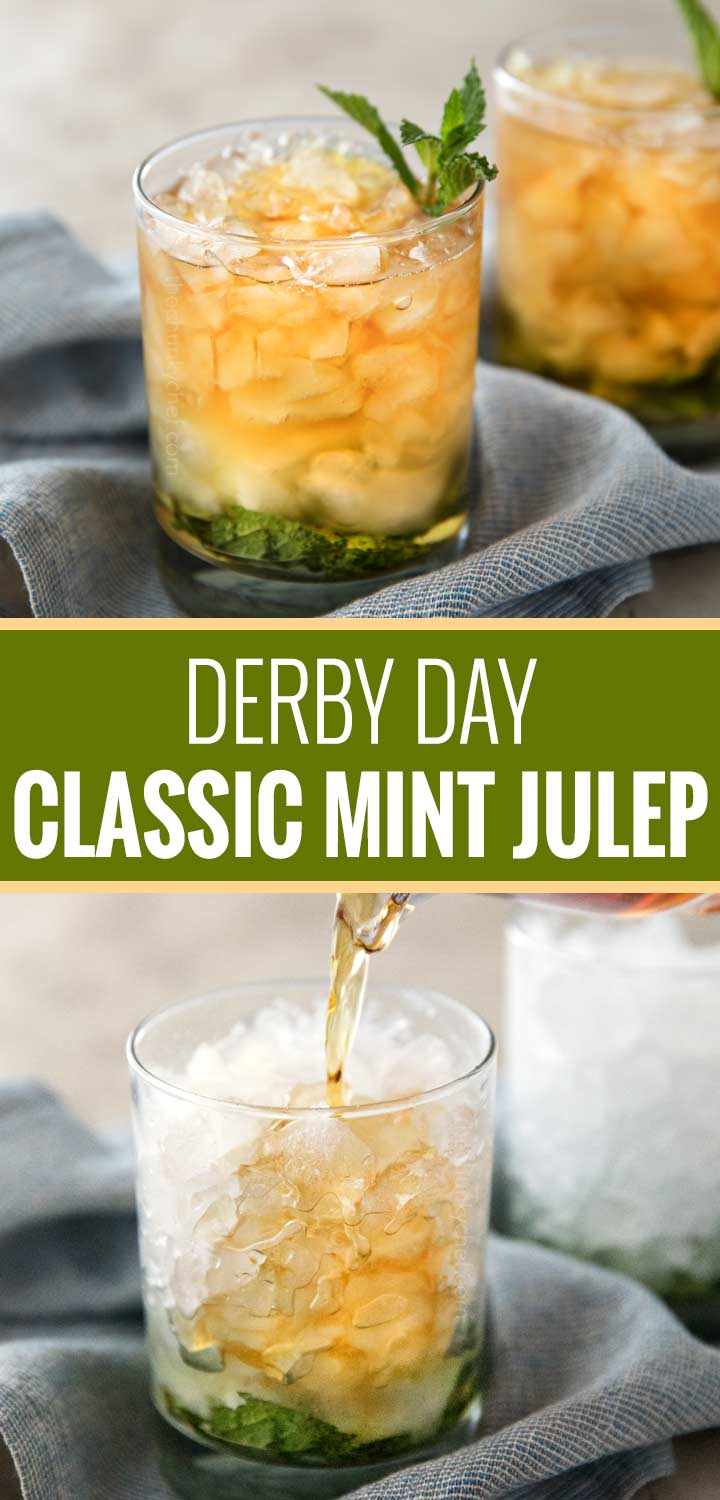 This Southern mint julep recipe is extremely close to the iconic Derby Day cocktail, made with simple syrup, Kentucky bourbon, fresh mint, and crushed ice.  Cool and refreshing, it's perfect on a summer day! | #derbyday #bourbon #mint #mintjulep #kentucky #southern #cocktail
