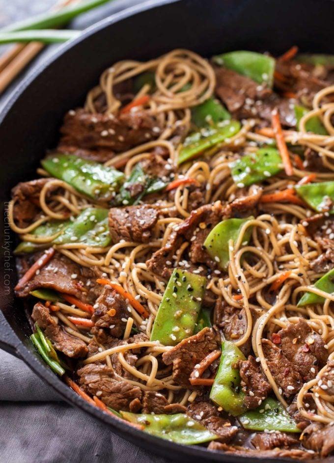Sesame Garlic Beef Stir Fry - The Chunky Chef