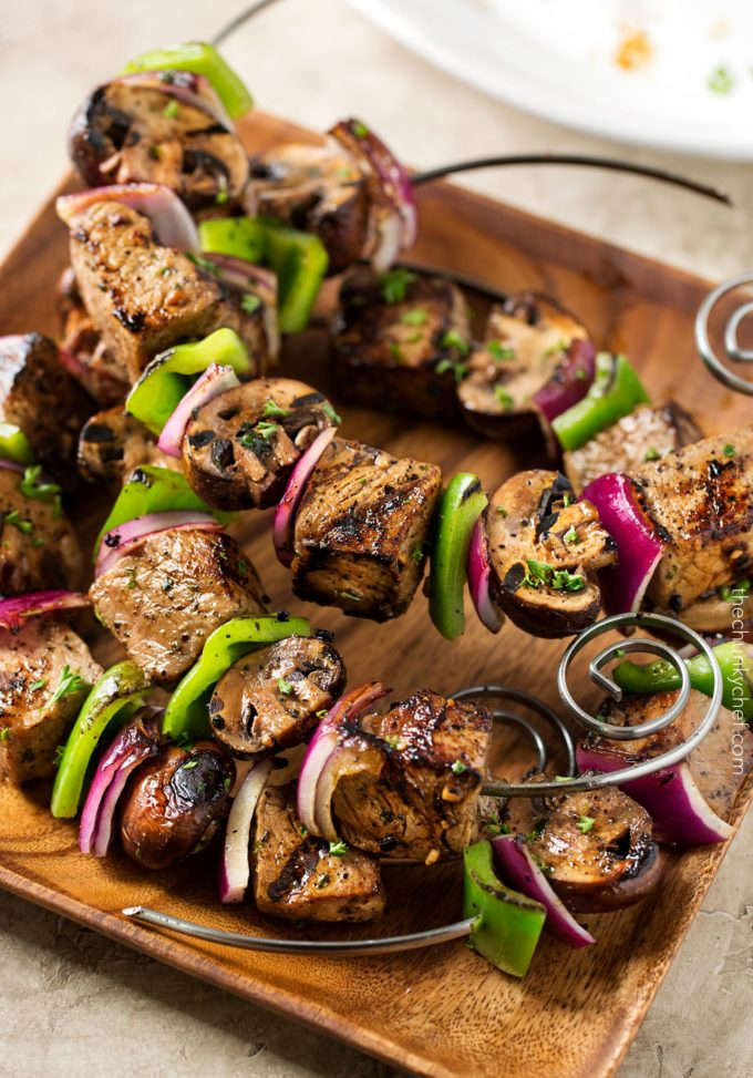 Grilled Steakhouse Kebabs