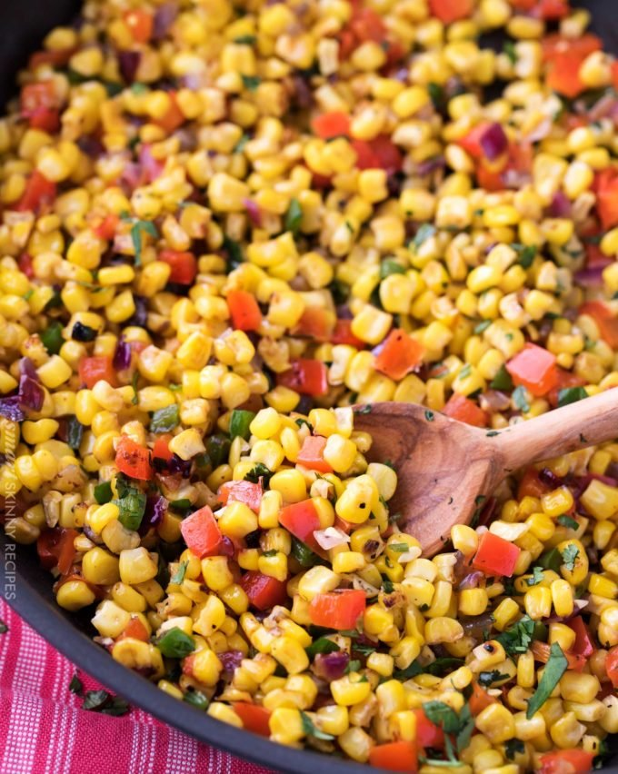 Southwest Cilantro Lime Corn Salad - The Chunky Chef