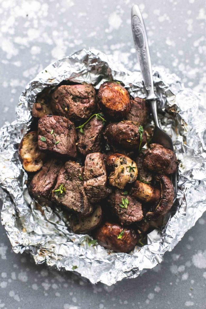 Steak Mushroom Foil Packs