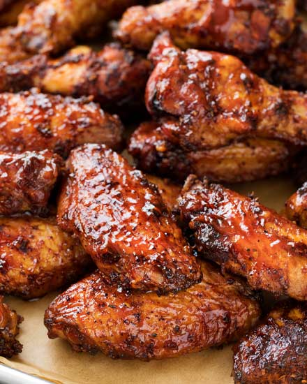 Bourbon Bbq Smoked Chicken Wings The Chunky Chef