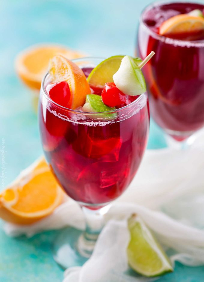 Applebee's red apple sangria drink