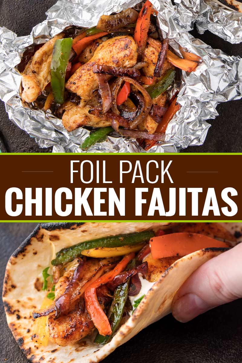 Chicken Fajita Foil Packs are the perfect easy meal for summer cookouts or a camping trip!  Loaded with smoky flavors and classic chicken fajita ingredients, this low carb meal is tasty and fun to make! #chickenfajitas #fajitas #foilpack #hobopack #foilpackets #grilling #chickenrecipe #lowcarb #keto