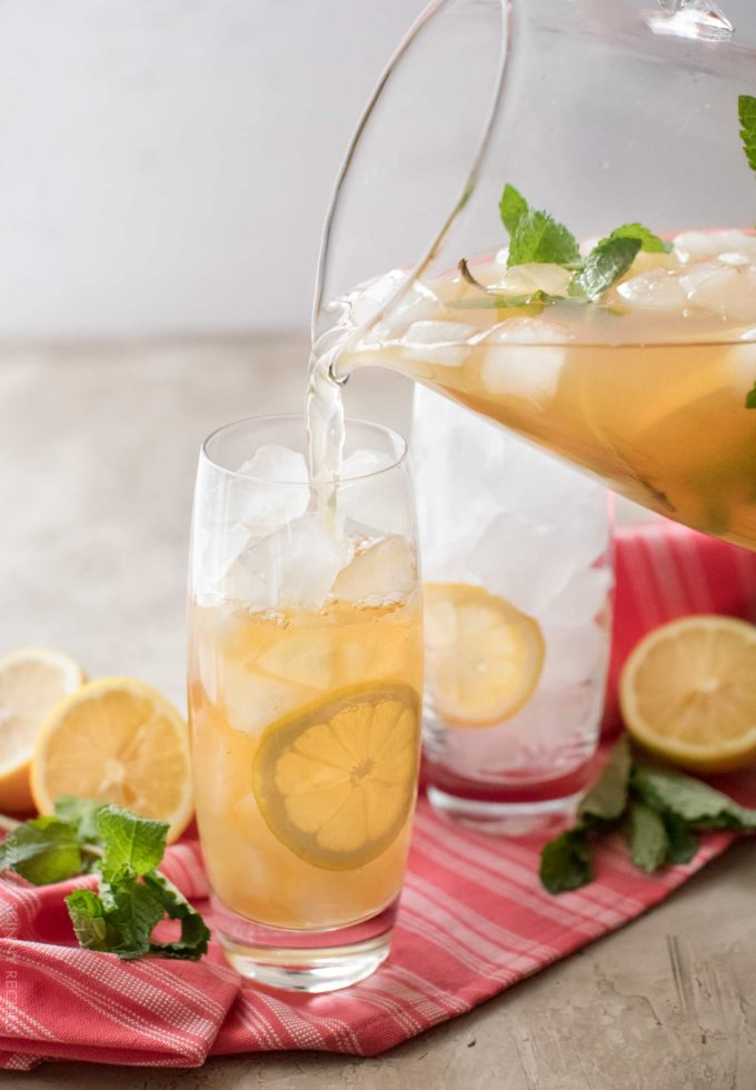 Iced Green Tea With Mint And Honey The Chunky Chef