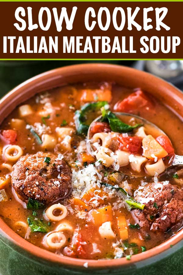 Slow Cooker Italian Meatball Soup The Chunky Chef