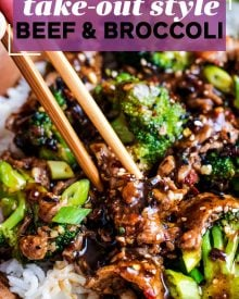 Perfect Chinese takeout-style Beef and Broccoli stir fry, made in about 30 minutes, right in your own kitchen!#beefandbroccoli #Chinese #takeout #stirfry #easyrecipe #easydinner #beef #broccoli #chineserecipe #takeout #simpledinner