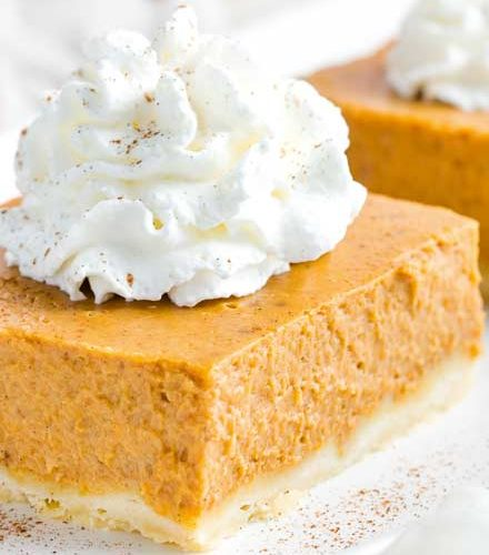Pumpkin Pie Bars With Shortbread Crust The Chunky Chef