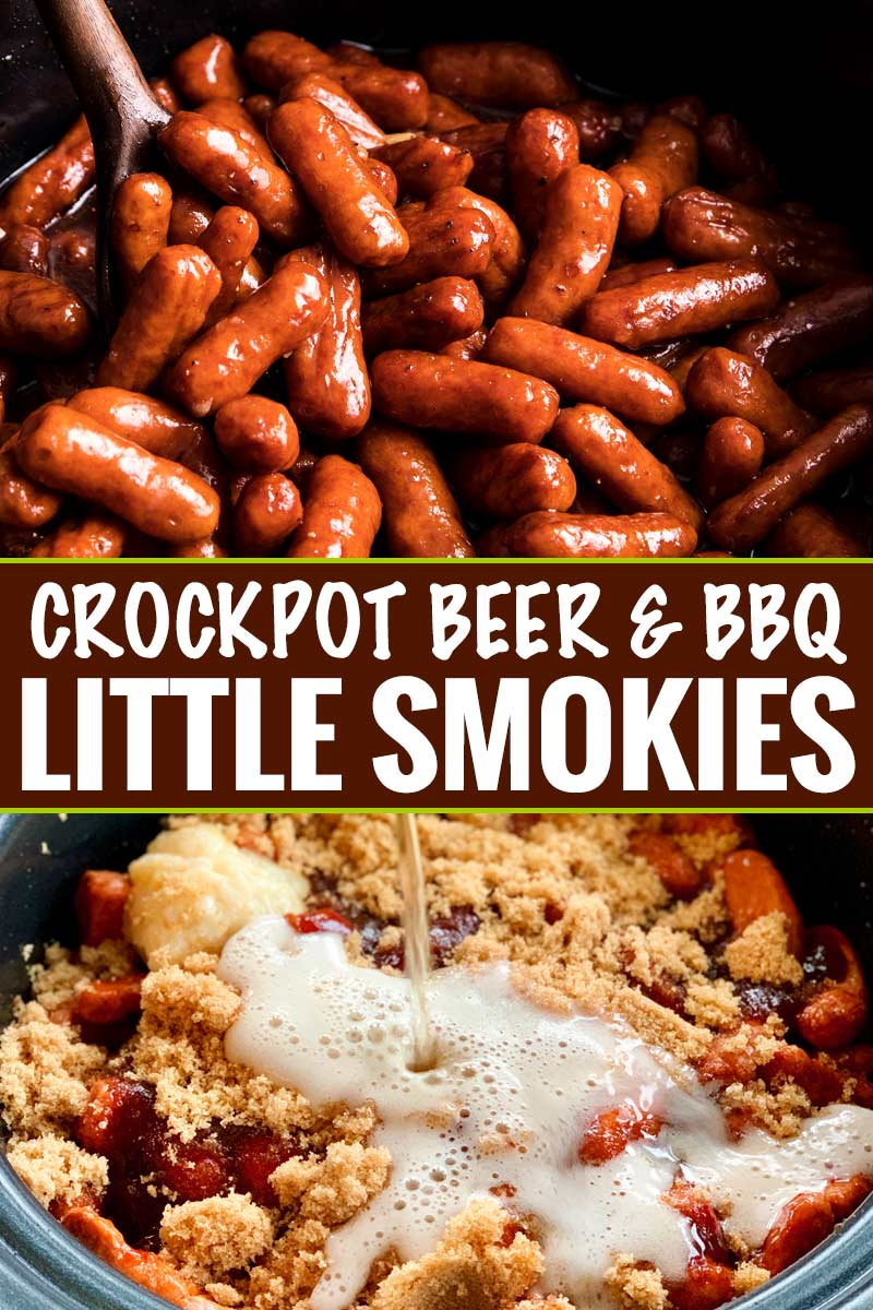 Crockpot Bbq Beer Little Smokies The Chunky Chef