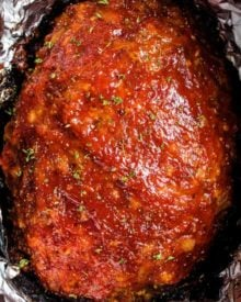 The Best Crockpot Meatloaf is a way to enjoy classic comfort food, even on a busy weeknight!  Moist and tender, this meatloaf recipe is always a family favorite! #meatloaf #crockpot #slowcooker #comfortfood #weeknightrecipe #dinnerrecipe #beef #groundbeef #family