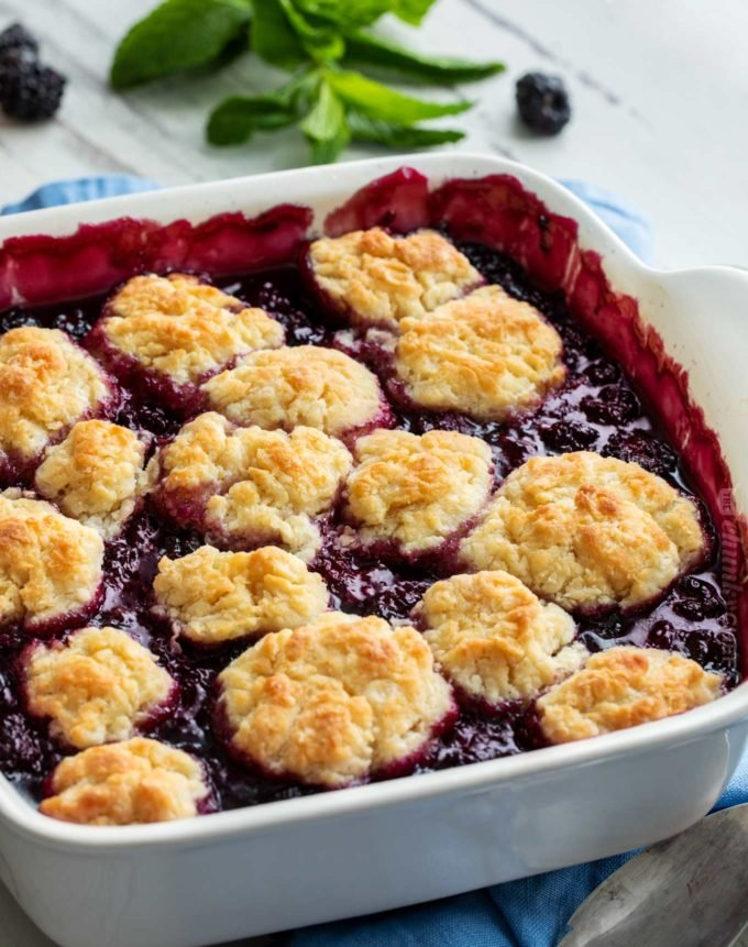 Perfect Blackberry Cobbler (family favorite!) - The Chunky Chef