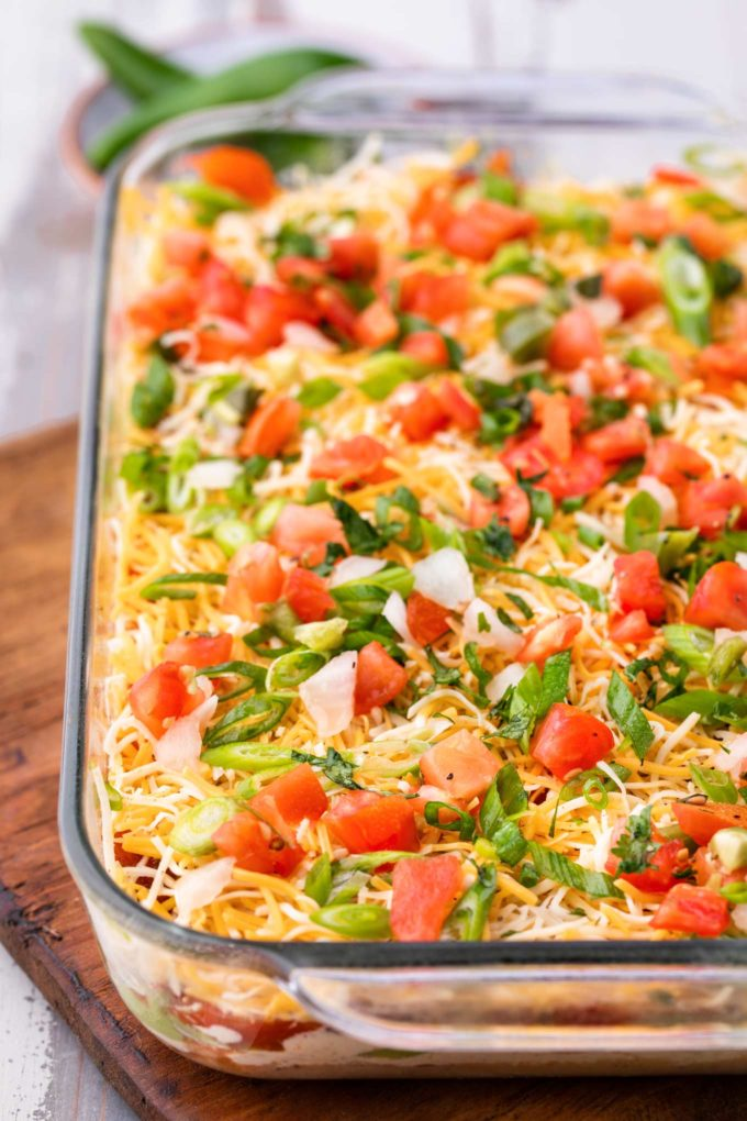 7 layer dip in baking dish