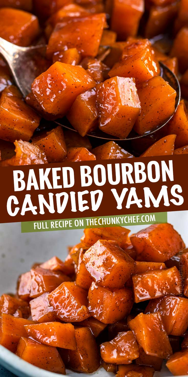 Candied Yams/Candied Sweet Potatoes are made with sweet potatoes, brown sugar, butter and plenty of warm spices and are the PERFECT holiday side dish! #yams #candiedyams #sweetpotatoes #candiedsweetpotatoes #thanksgiving #holiday #sidedish #candied