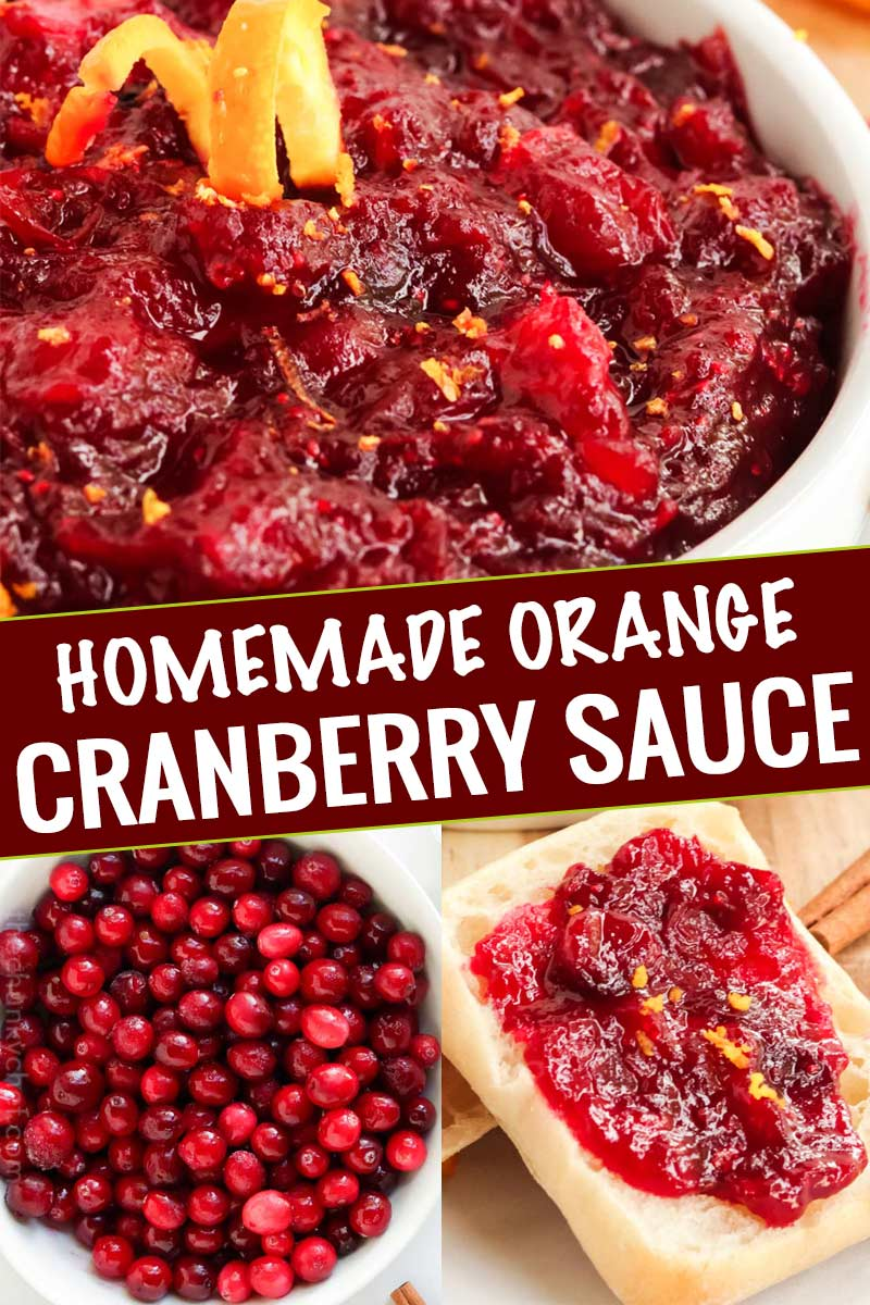 Easy and classic cranberry sauce, made from scratch in just 20 minutes and with only 4 ingredients!  Perfect with roasted turkey and on leftover sandwiches too! #cranberry #sauce #holiday #thanksgiving #sidedish #condiment #fromscratch #easyrecipe