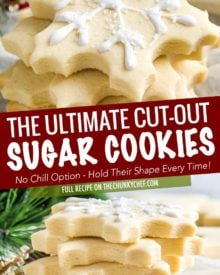 These cut out sugar cookies are delicious, have slightly crispy edges and soft centers, keep their shape, and they have perfect edges every single time!  The only sugar cookie recipe you'll need! #sugarcookie #cutoutcookies #dessert #easyrecipe #makeahead #christmascookie #christmas #holiday #baking