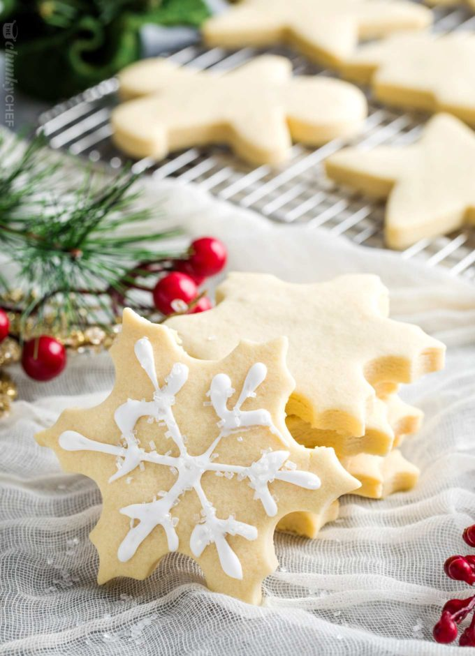 How to make perfect sugar cookies - stacked snowflake cookies