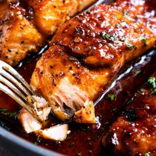Easy honey garlic salmon recipe