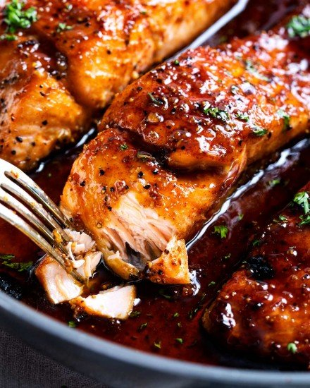 Easy honey garlic salmon recipe