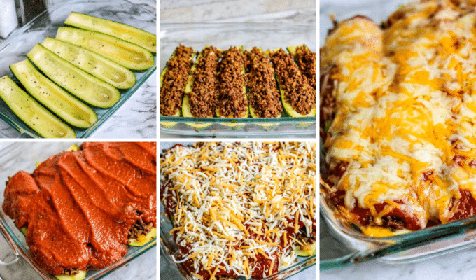 How to make enchilada stuffed zucchini boats