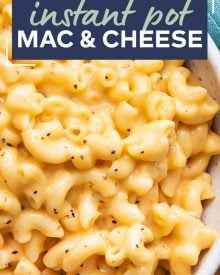 This Instant Pot Mac and Cheese is ultra creamy and rich with a velvety smooth sauce!  Ready in about 20 minutes, it's perfect for a busy night and always a family favorite! #macandcheese #comfortfood #macaroni #cheese #instantpot #pressurecooker #sidedish #comfortfood #holidayfood