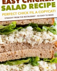 pin image for copycat chicken salad