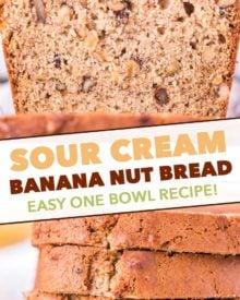 pinterest image for banana nut bread