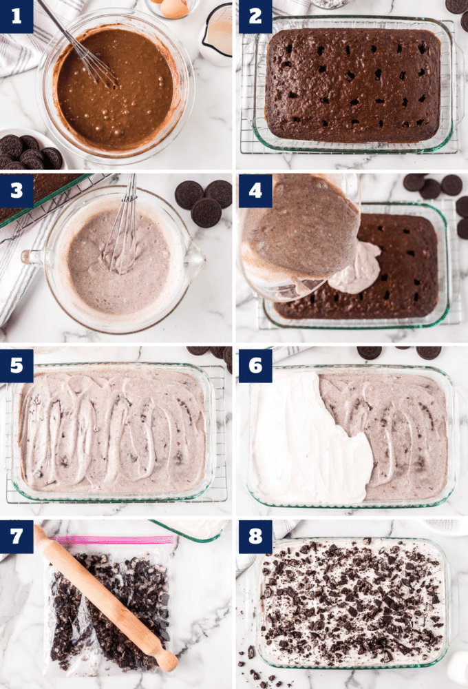 how to make oreo poke cake