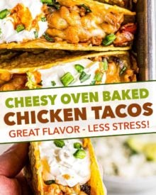 second pin image for baked chicken tacos