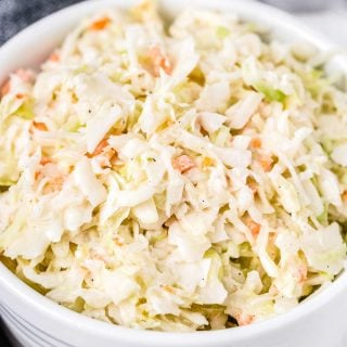 white bowl of chick fil a coleslaw