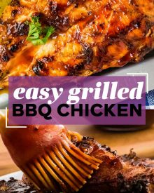 pin image for grilled bbq chicken
