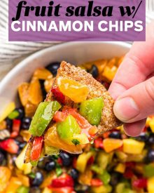 pin image for fruit salsa and cinnamon chips