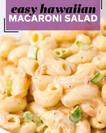 pin image for macaroni salad