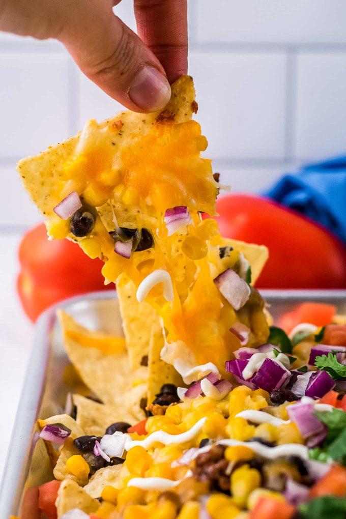 picking up nachos