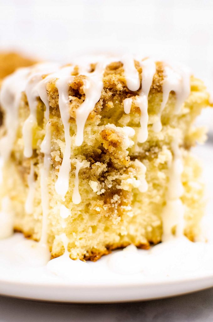 close up photo of coffee cake