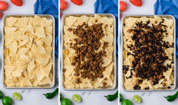 how to make sheet pan nachos