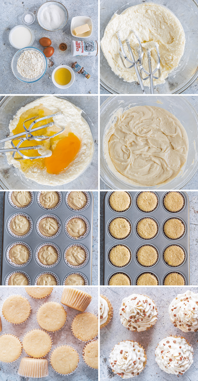 step by step photos for making vanilla cupcakes