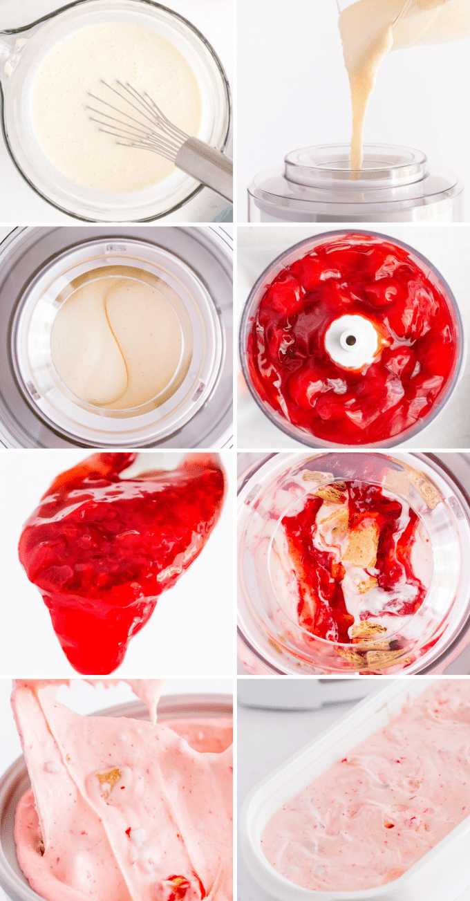 process images for how to make homemade ice cream