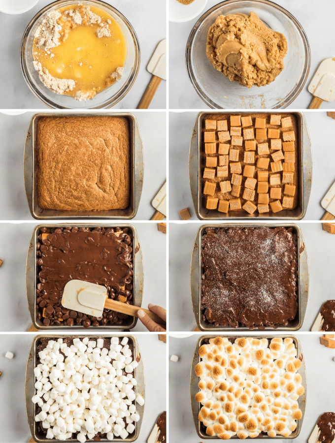 how to make s'mores cookie cake