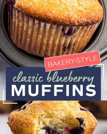 Get ready to toss those boxes of muffin mix, these homemade blueberry muffins are moist, loaded with blueberries, and so simple to make! Directions for regular, jumbo and mini sized muffins! #blueberry #muffins #breakfast #brunch #baking #homemade #scratch #easyrecipe