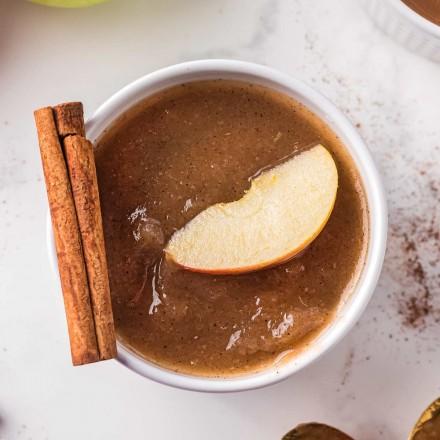small bowl of homemade applesauce