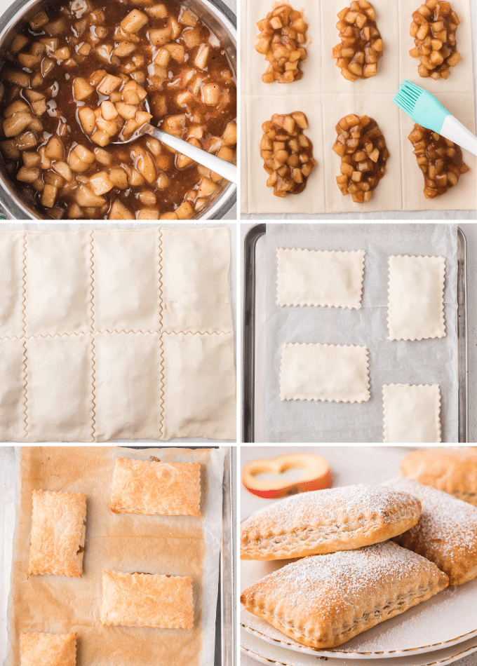 step by step photos of how to make apple turnovers