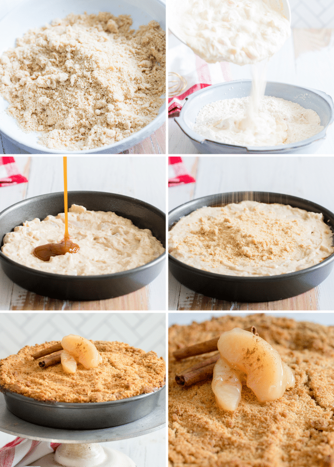step by step photos for how to make apple cake