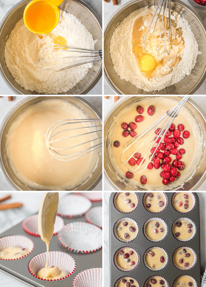 step by step photos for making orange muffins