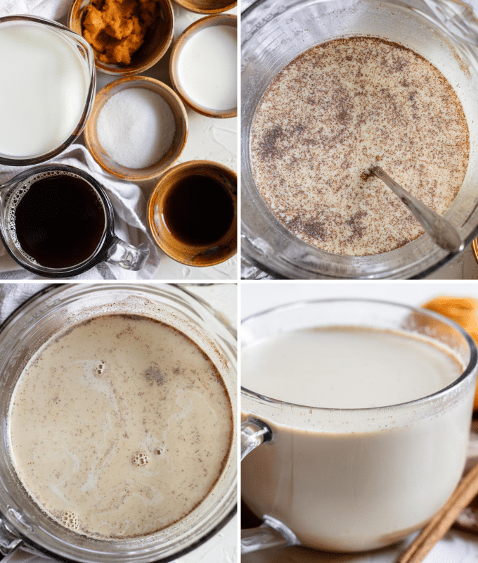 step by step how to make pumpkin spice latte