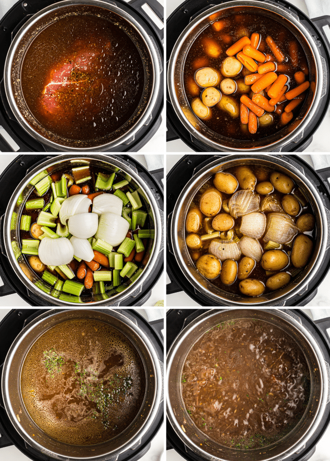 step by step photos of how to make instant pot pot roast