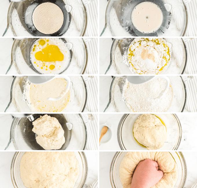 step by step photos of how to make focaccia