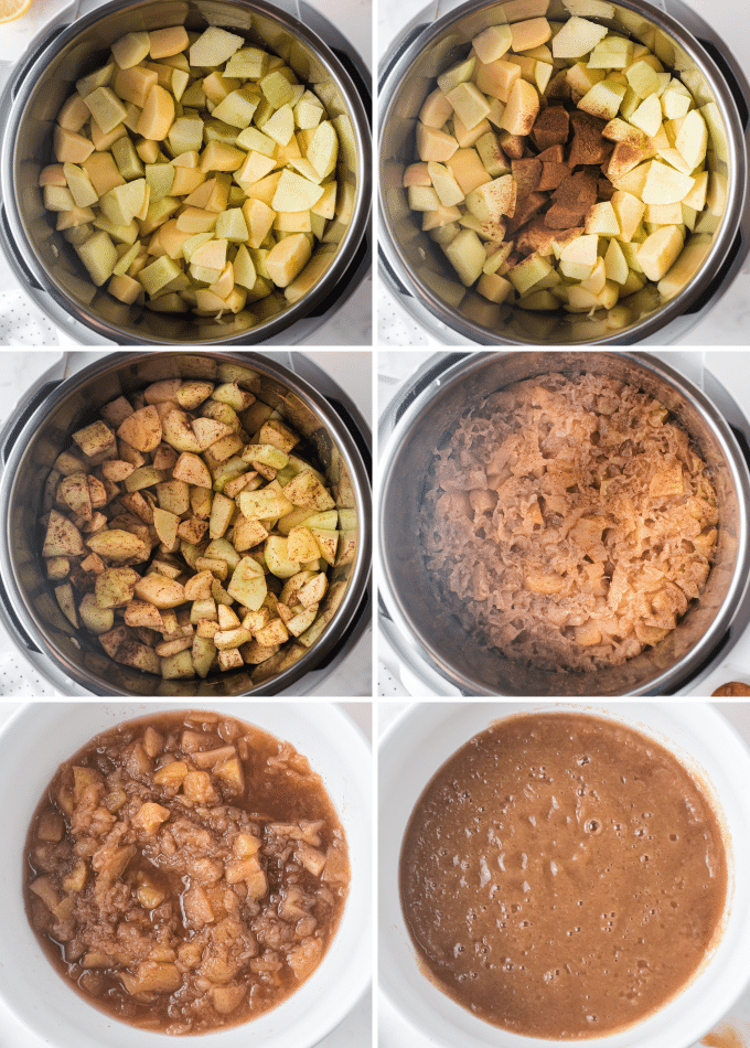 step by step photos of the making of homemade applesauce